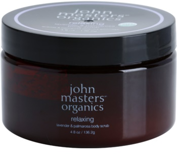 John Masters Organics Lavender & Palmarosa озаряващ пилинг за тяло за мека и гладка кожа