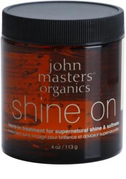 John Masters Organics Shine On gel dtyling para um cabelo liso e brilhante