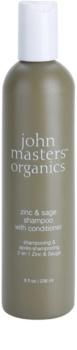 John Masters Organics Zinc & Sage šampon i regenerator 2 u 1  za nadraženo vlasište