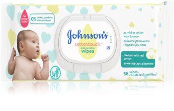 Johnsons's® Cottontouch extra jemné vlhčené čisticí ubrousky pro děti od narození