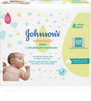 Johnsons's® Cottontouch dětské jemné vlhčené ubrousky