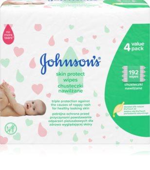 Johnsons's® Skin Protect sanfte Feuchtigkeitstücher für Kleinkinder