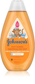 Johnson's Baby Wash and Bath bagno effervescente e gel detergente 2 in 1