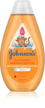 Johnson's® Wash and Bath bain moussant et gel lavant 2 en 1