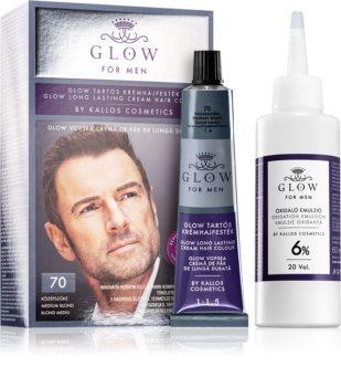 Kallos Glow permanentní barva na vlasy pro muže