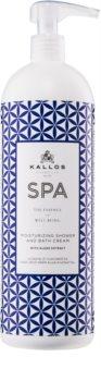 Kallos Spa kremasti gel za tuširanje i kupku s hidratantnim učinkom