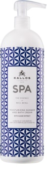 Kallos Spa κρεμώδη τζελ για ντους και μπάνιο με ενυδατικό αποτέλεσμα