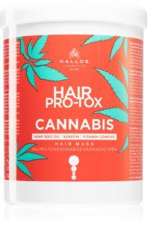 Kallos Hair Pro-Tox Cannabis regenerierende Maske für die Haare mit Hanföl