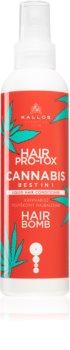 Kallos Hair Pro-Tox Cannabis öblítést nem igénylő spray kondicionáló kender olajjal