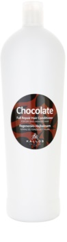 Kallos Chocolate condicionador regenerador para cabelo seco a danificado