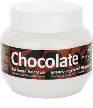Kallos Chocolate máscara regeneradora para cabelo seco a danificado