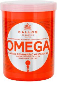 Kallos KJMN mascarilla nutritiva para cabello con complejo omega-6 y aceite de macadamia