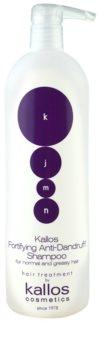 Kallos KJMN šampon za učvršćivanje protiv peruti