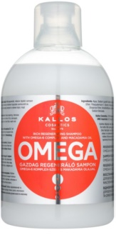 Kallos KJMN регенериращ шампоан  с омега 6 комплекс и масло от макадамия