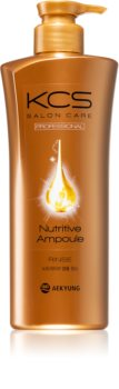 KCS Salon Care Nutritive Ampoule Rinse tápláló sampon a haj regenerálásáért és megerősítéséért