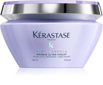 Kérastase Blond Absolu Masque Ultra-Violet głęboka pielęgnacja do włosów rozjaśnionych, z pasemkami w odcieniu chłodnego blondu