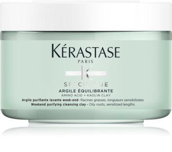 Kérastase Specifique Argile Équilibrante tisztító maszk agyaggal a fejbőrre és a hajtövekre