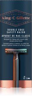 King C. Gillette Double Edge Safety Rasor holicí strojek + žiletky 5 ks