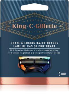 King C. Gillette Shave & Edging Razor heads Varapäät Parranajoon