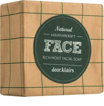Klairs Rich Moist Facial Soap savon solide peaux sensibles