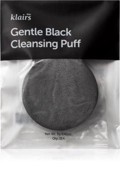 Klairs Gentle Black Cleansing Puff čisticí houbička na obličej