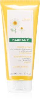 Klorane Chamomile condicionador iluminador para cabelo loiro e grisalho