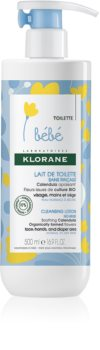 Klorane Bébé Calendula lait nettoyant sans rinçage pour peaux normales et sèches