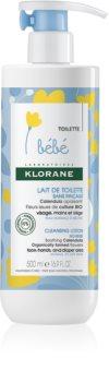Klorane Bébé Calendula öblítést nem igénylő tisztító tej normál és száraz bőrre