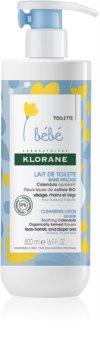 Klorane Bébé Calendula γαλάκτωμα καθαρισμού  χωρίς ξέβγαλμα για κανονικό και ξηρό δέρμα