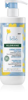 Klorane Bébé Calendula krem oczyszczający do skóry suchej i bardzo suchej