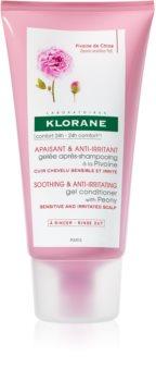 Klorane Pivoine gelée après-shampoing qui apaise le cuir chevelu sensible