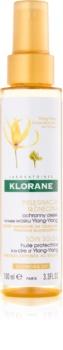Klorane Ylang-Ylang защитно масло за изтощена от слънце коса