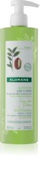 Klorane Cupuaçu Bio Eau de Yuzu gyengéden hidratáló és tápláló tej a testre