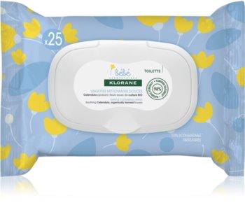 Klorane Bébé Calendula jemné čisticí ubrousky pro děti od narození