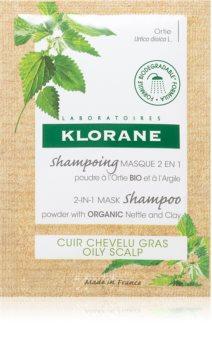 Klorane Nettle shampoo ja naamio 2 in 1 puuterissa