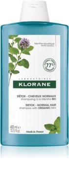 Klorane Menthe BIO reinigendes Detox-Shampoo für normales Haar