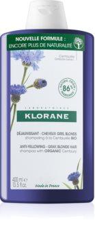 Klorane Cornflower Organic Shampoo for Yellow Tones Neutralization