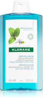 Klorane Máta Vodní reinigendes Detox-Shampoo für Haare, die der Luftverschmutzung ausgesetzt sind