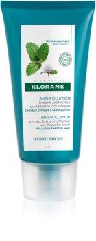 Klorane Aquatic Mint защитен балсам за коса, изложена на замърсен въздух
