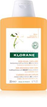 Klorane Monoï & Tamanu Shampoo mit ernährender Wirkung für von der Sonne überanstrengtes Haar