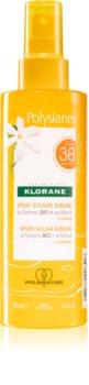 Klorane Monoï & Tamanu Beskyttende solcreme på spray SPF 30