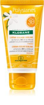 Klorane Monoï & Tamanu ochranný krém na obličej SPF 30