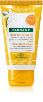 Klorane Monoï & Tamanu crema protettiva viso SPF 50+
