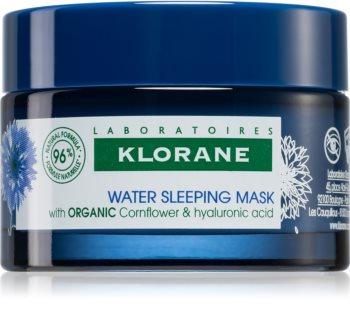Klorane Cornflower Organic maseczka na noc z kwasem hialuronowym
