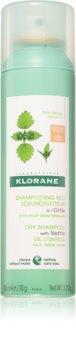 Klorane Nettle șampon uscat pentru păr gras și închis la culoare
