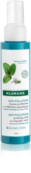 Klorane Aquatic Mint osviežujúca hmla pre vlasy vystavené znečistenému ovzdušiu