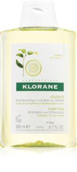 Klorane Cédrat șampon pentru par normal spre gras