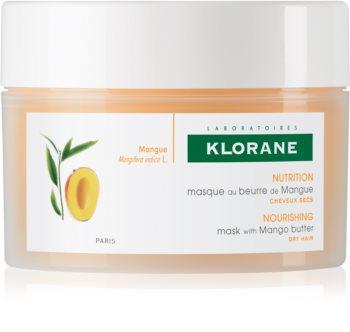 Klorane Mango masca hranitoare pentru păr uscat și deteriorat