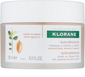 Klorane Desert Date mascarilla nutritiva para cabello castigado y quebradizo