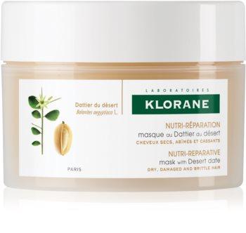 Klorane Desert Date máscara nutritiva para cabelo cansado e quebrado